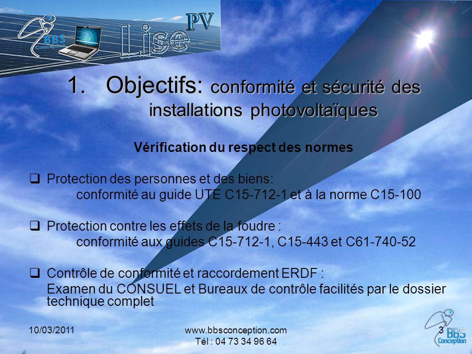 Objectifs: conformité et sécurité des installations photovoltaïques
