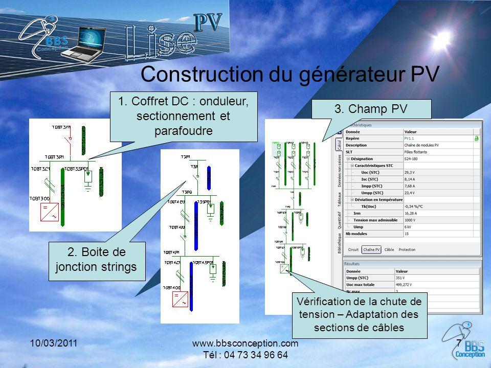 Construction du générateur PV