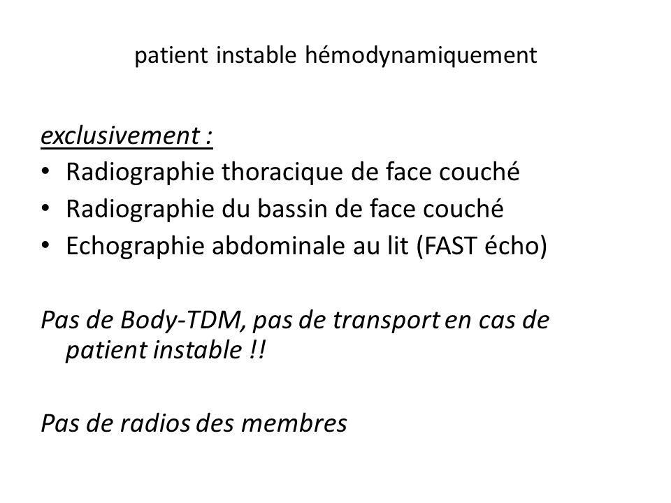 patient instable hémodynamiquement