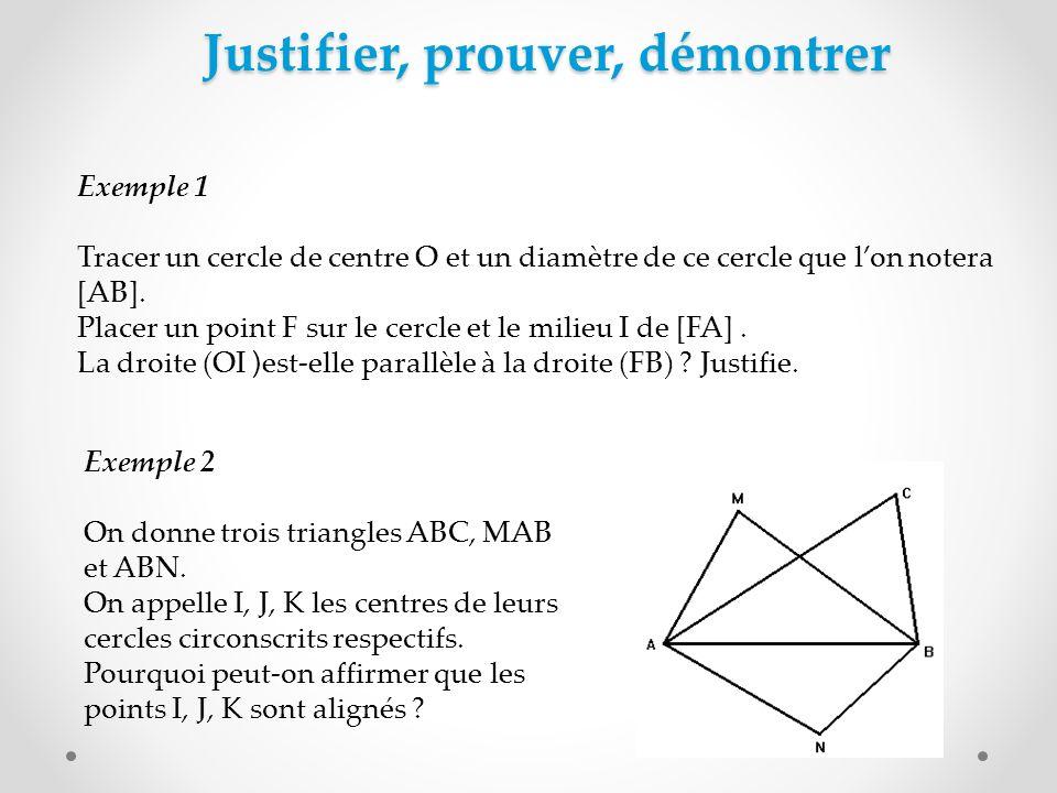 Justifier, prouver, démontrer