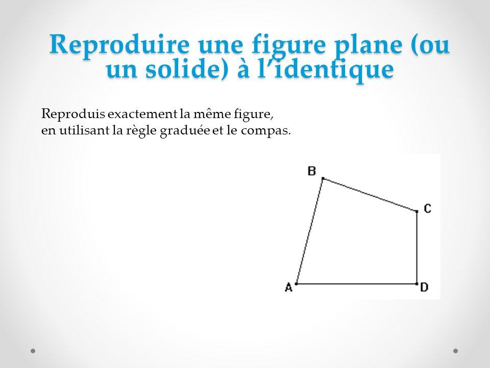 Reproduire une figure plane (ou un solide) à l'identique