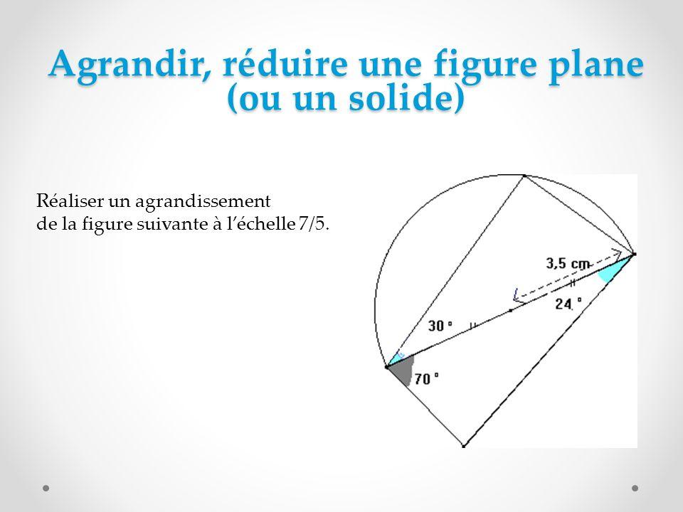 Agrandir, réduire une figure plane (ou un solide)