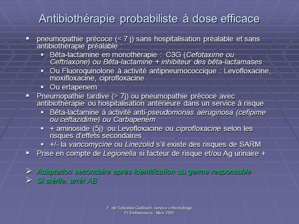 Antibiothérapie probabiliste à dose efficace