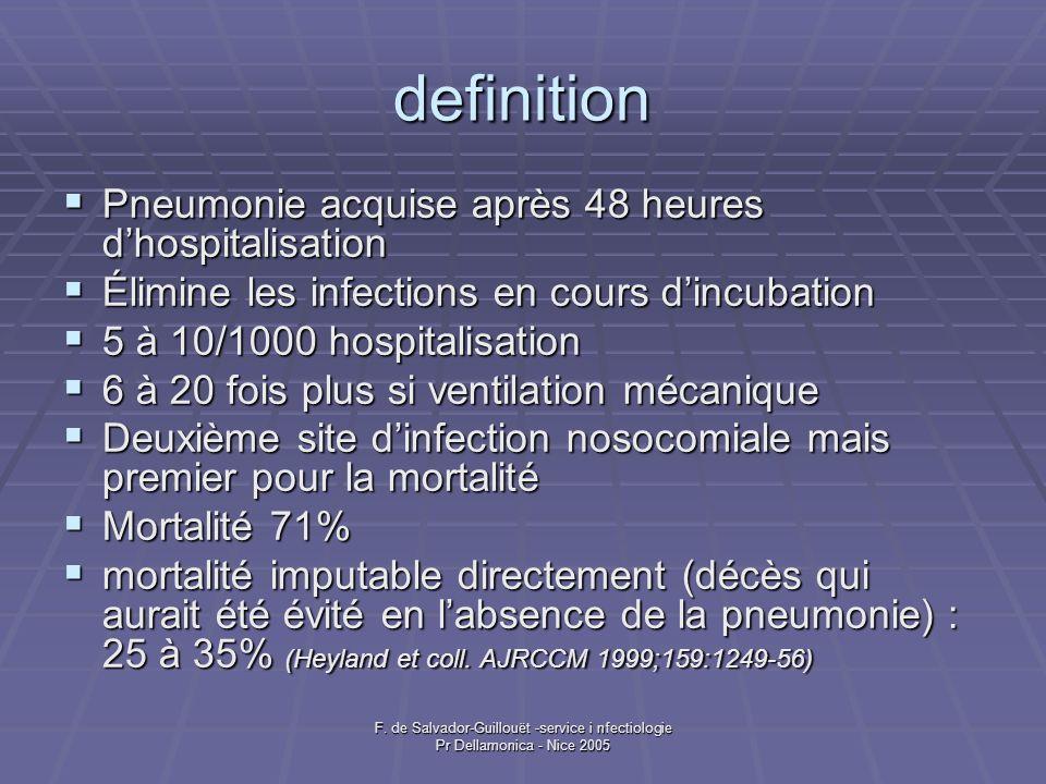 definition Pneumonie acquise après 48 heures d'hospitalisation