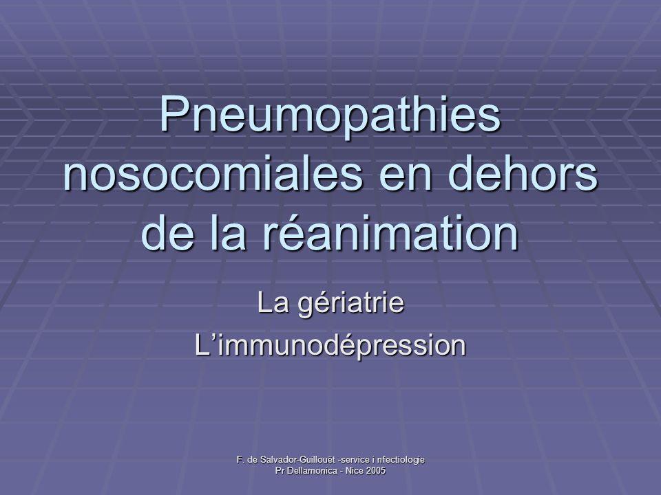 Pneumopathies nosocomiales en dehors de la réanimation