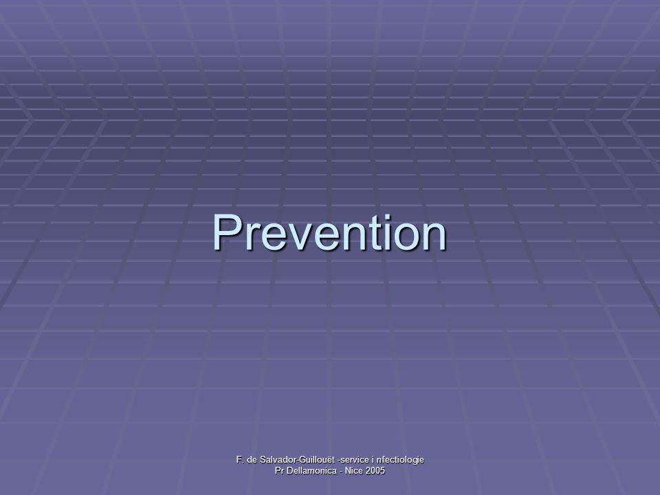 Prevention F. de Salvador-Guillouët -service i nfectiologie Pr Dellamonica - Nice 2005