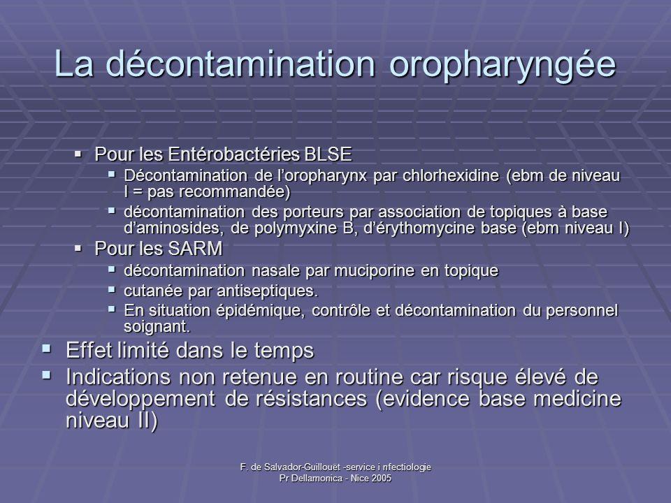 La décontamination oropharyngée