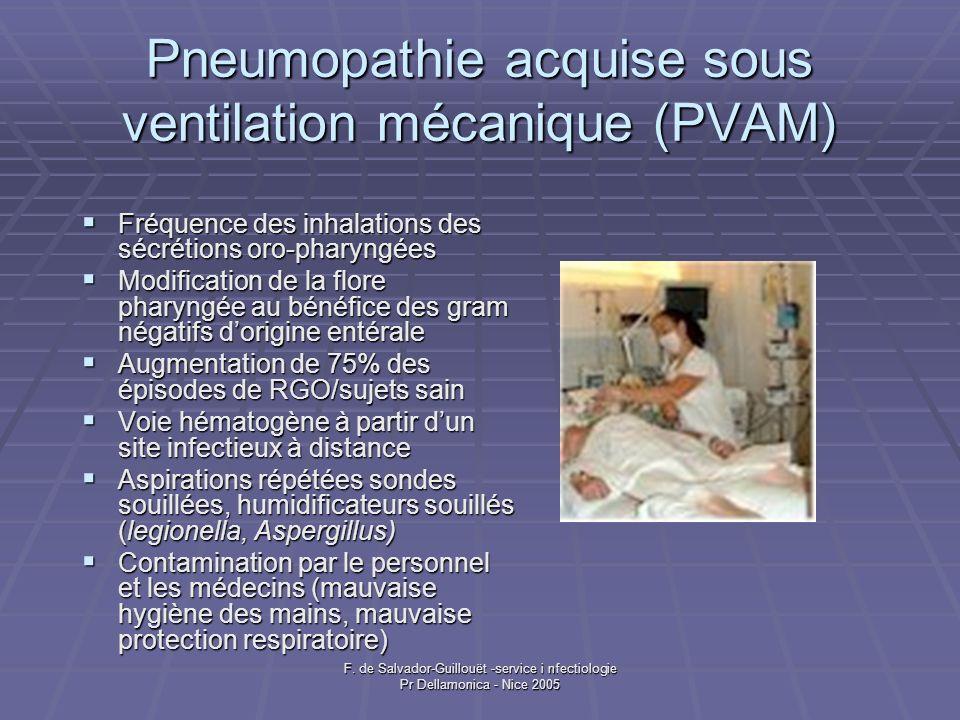 Pneumopathie acquise sous ventilation mécanique (PVAM)