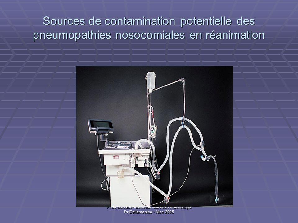 Sources de contamination potentielle des pneumopathies nosocomiales en réanimation