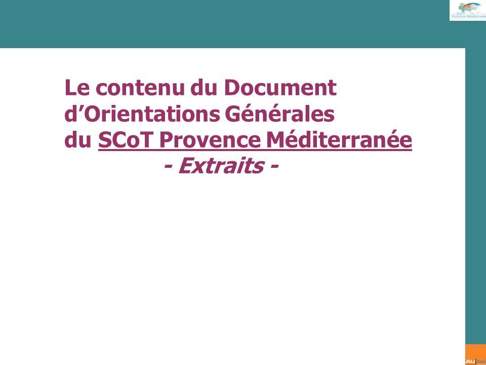 Le contenu du Document d'Orientations Générales
