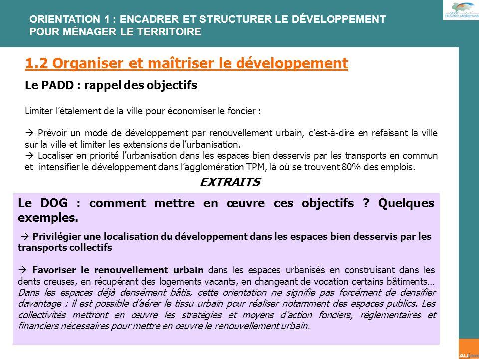 1.2 Organiser et maîtriser le développement