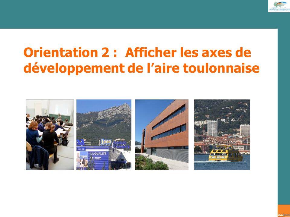 Orientation 2 : Afficher les axes de développement de l'aire toulonnaise