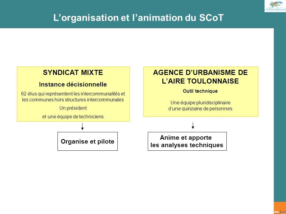 L'organisation et l'animation du SCoT