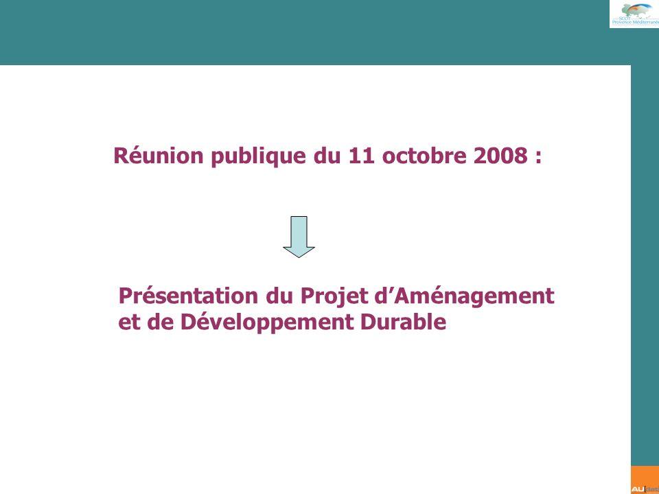 Réunion publique du 11 octobre 2008 :