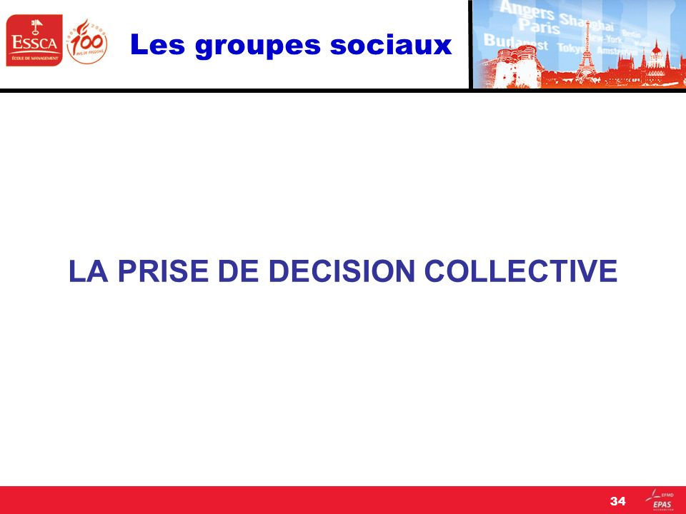 LA PRISE DE DECISION COLLECTIVE