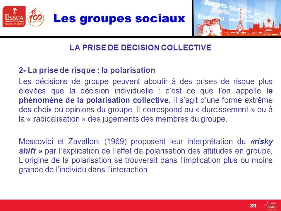 Les groupes sociaux