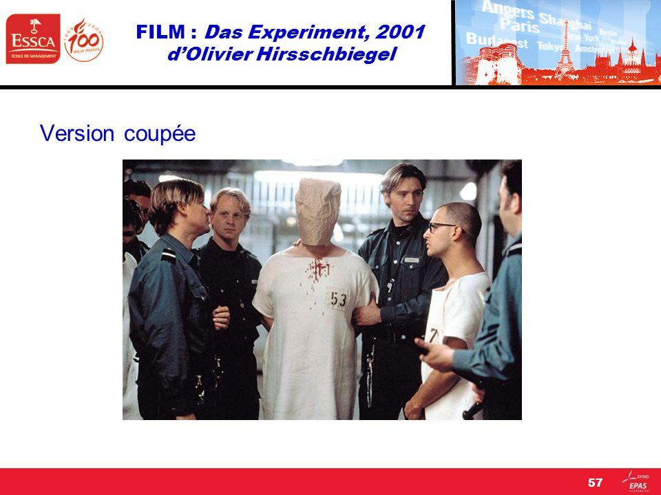FILM : Das Experiment, 2001 d'Olivier Hirsschbiegel