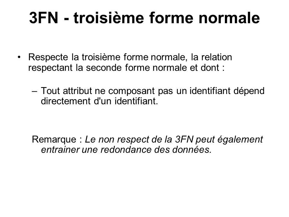 3FN - troisième forme normale