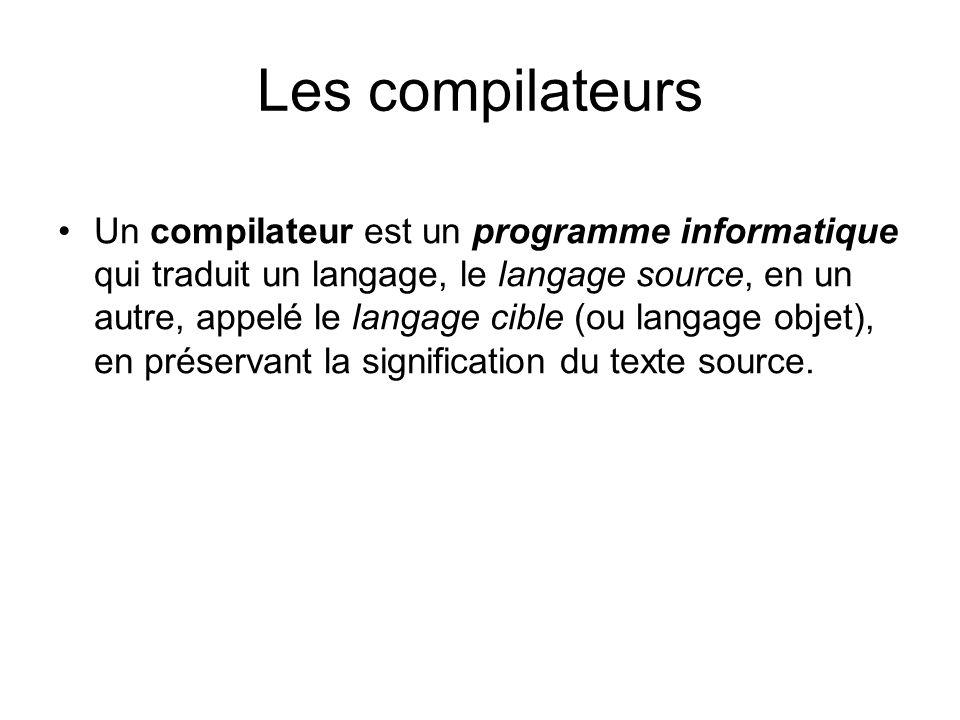 Les compilateurs