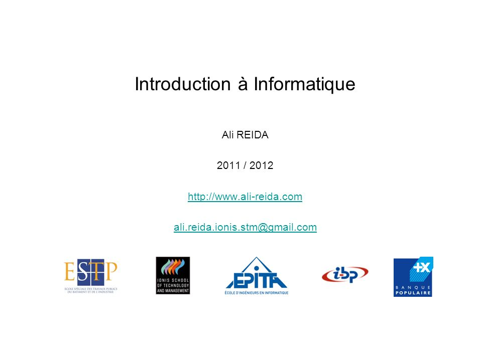 Introduction à Informatique