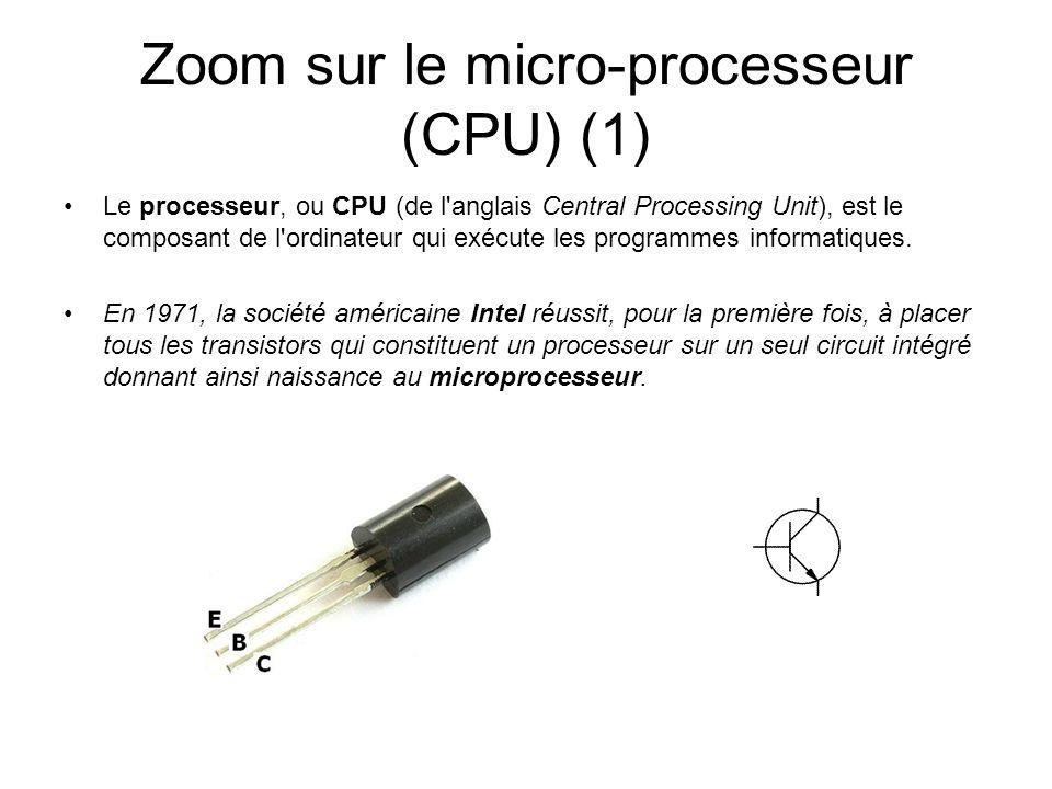 Zoom sur le micro-processeur (CPU) (1)