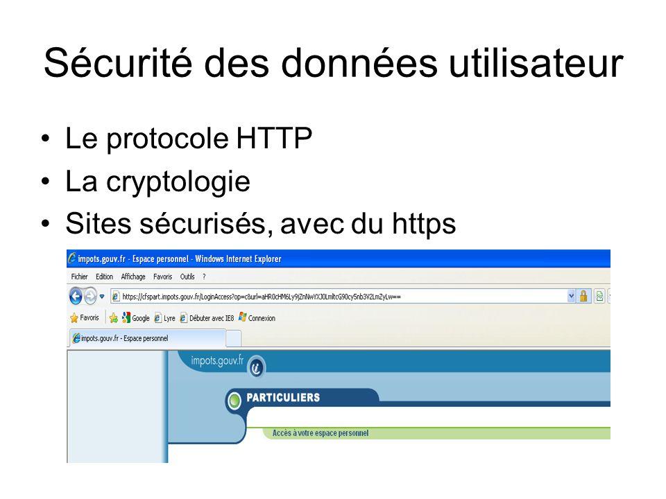 Sécurité des données utilisateur