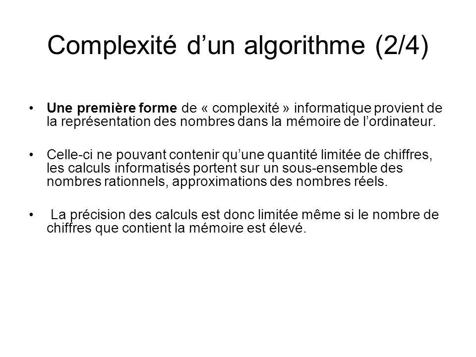 Complexité d'un algorithme (2/4)