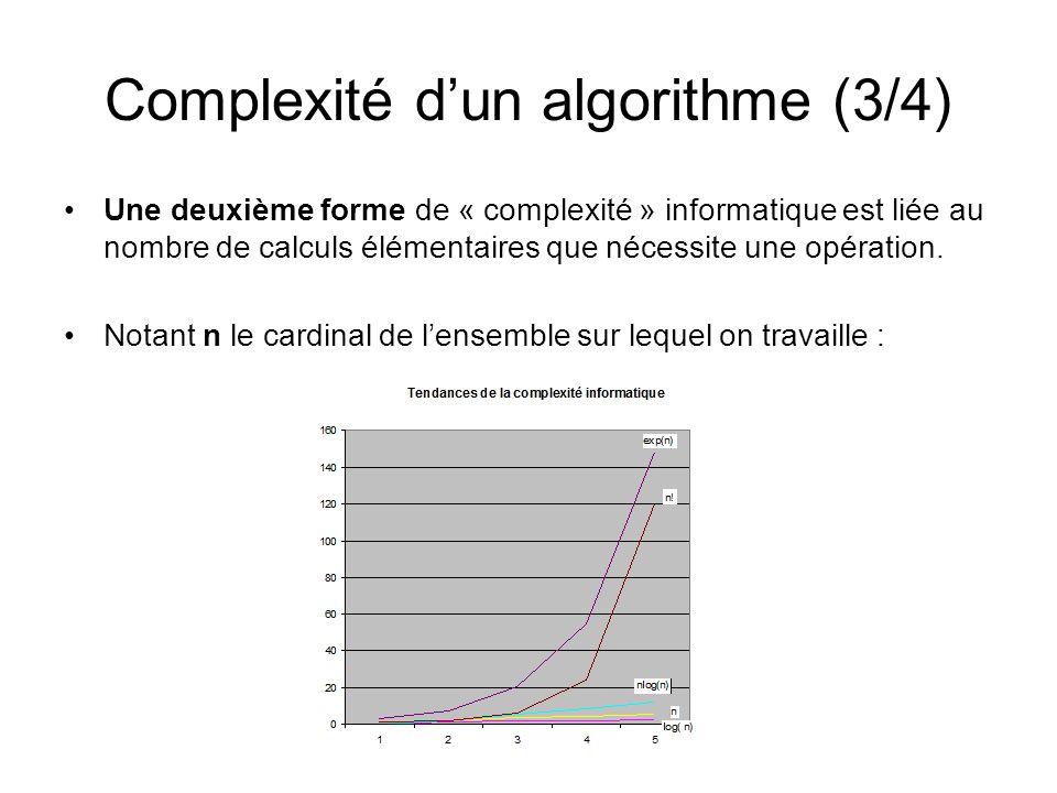 Complexité d'un algorithme (3/4)