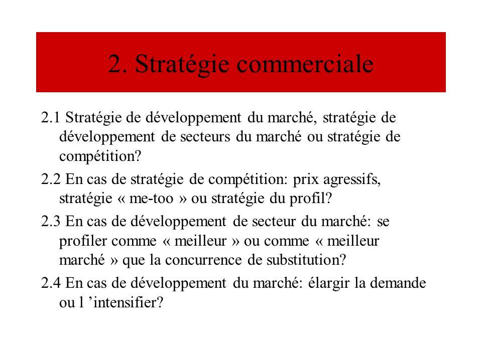 2. Stratégie commerciale