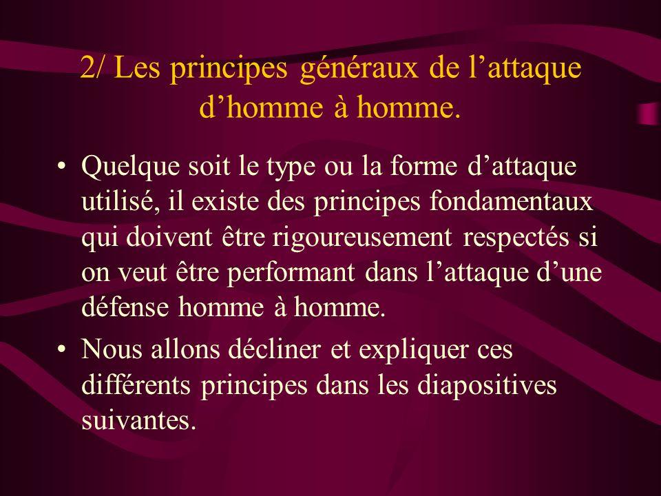 2/ Les principes généraux de l'attaque d'homme à homme.