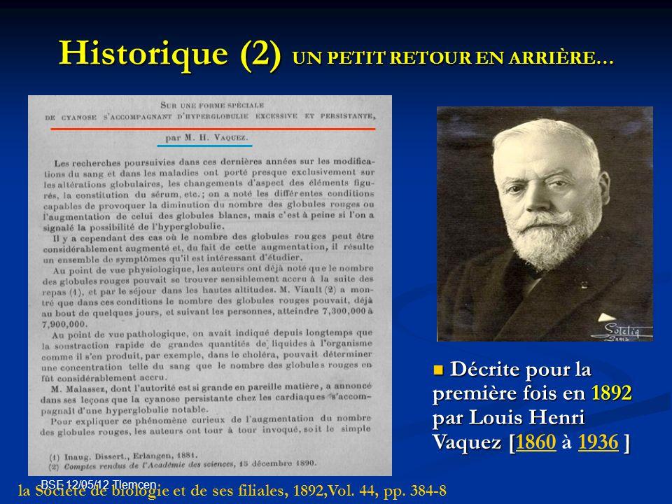 Historique (2) UN PETIT RETOUR EN ARRIÈRE…