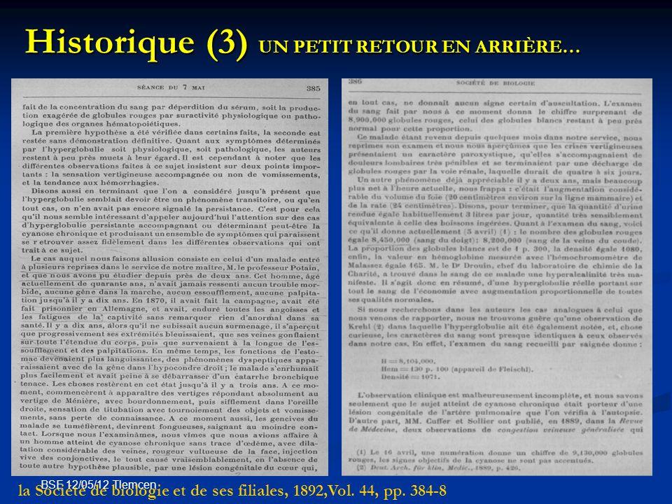Historique (3) UN PETIT RETOUR EN ARRIÈRE…