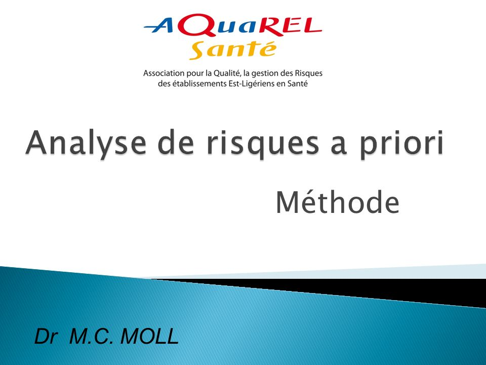 Analyse de risques a priori