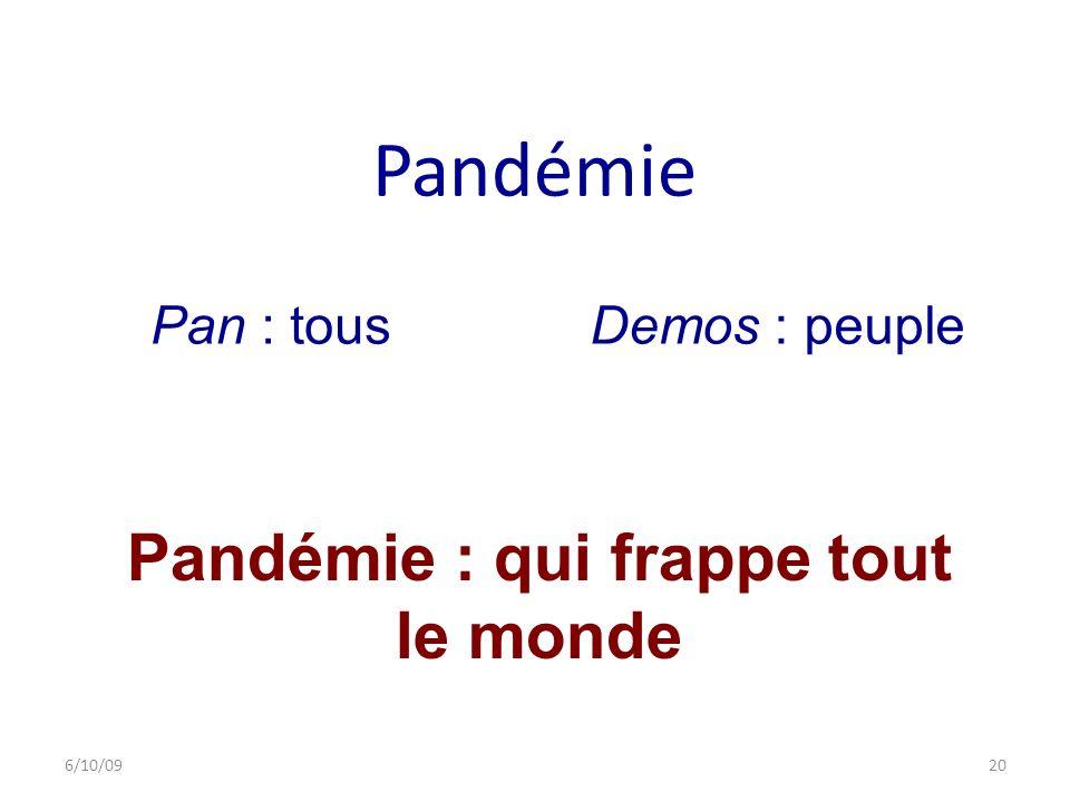 Pandémie : qui frappe tout le monde