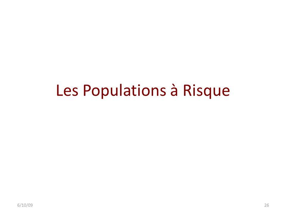 Les Populations à Risque
