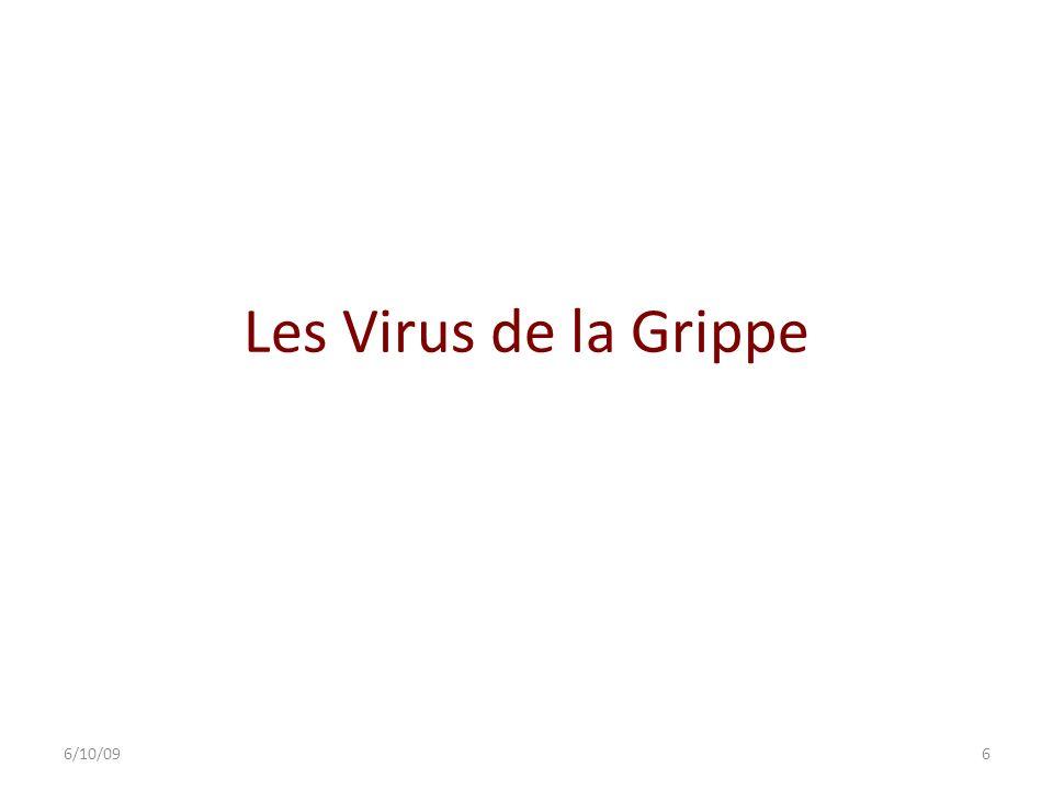 Les Virus de la Grippe 6/10/09