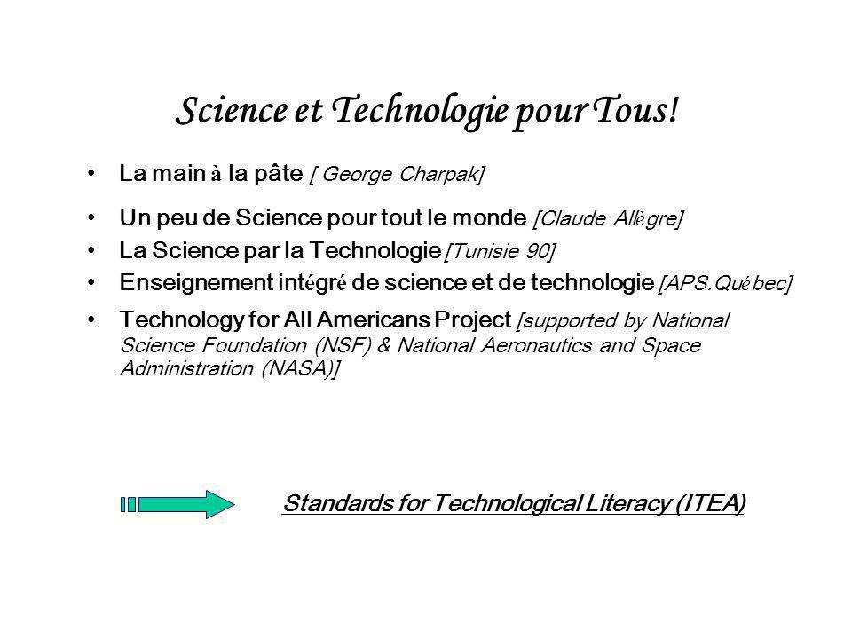 Science et Technologie pour Tous!