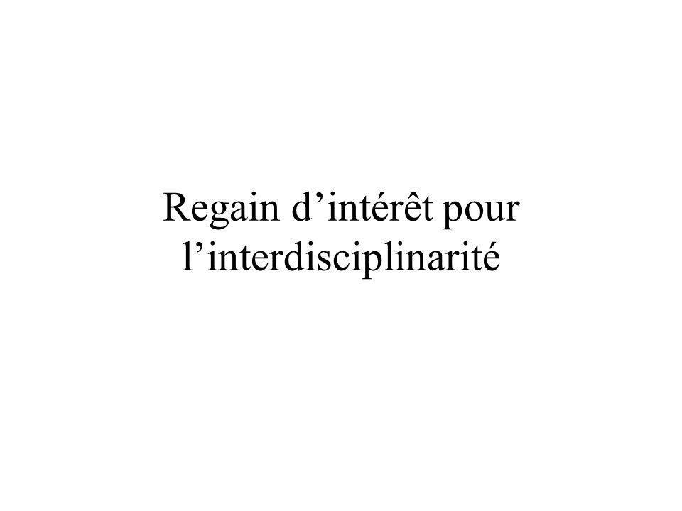 Regain d'intérêt pour l'interdisciplinarité