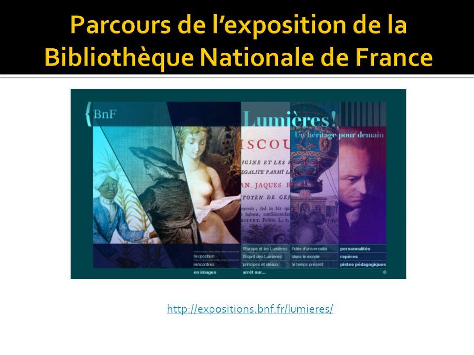 Parcours de l'exposition de la Bibliothèque Nationale de France