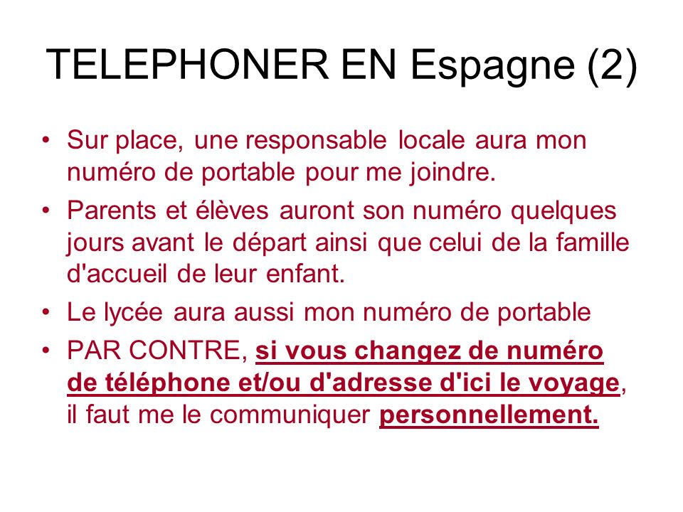 TELEPHONER EN Espagne (2)