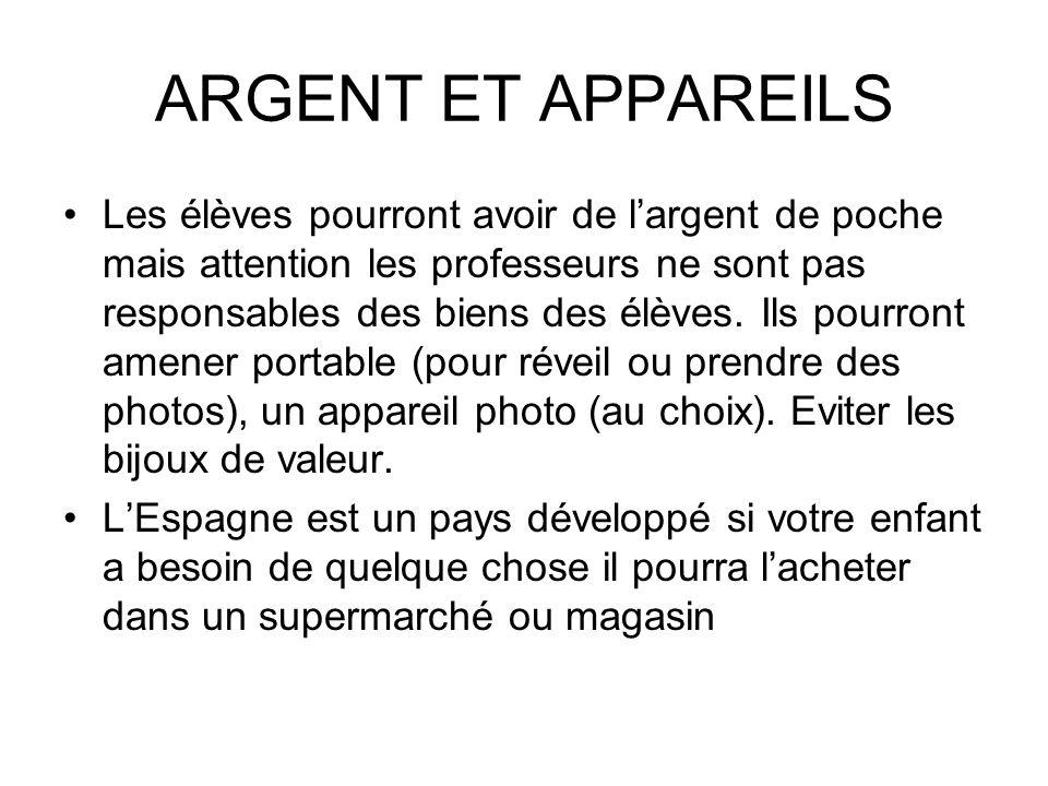 ARGENT ET APPAREILS