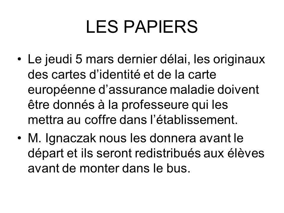 LES PAPIERS