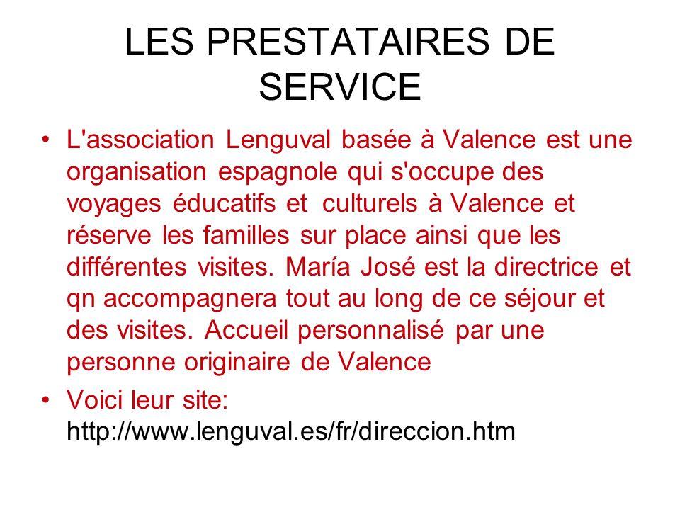 LES PRESTATAIRES DE SERVICE