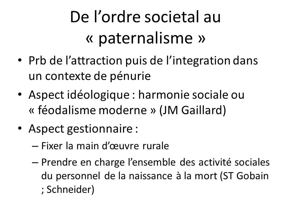 De l'ordre societal au « paternalisme »