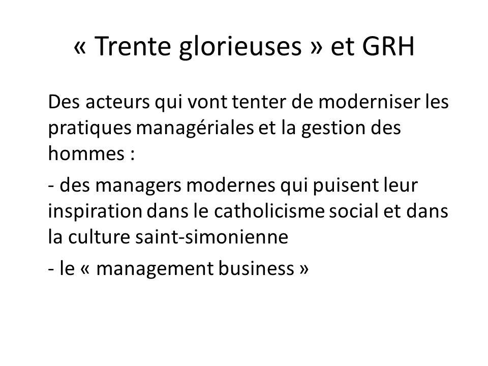 « Trente glorieuses » et GRH