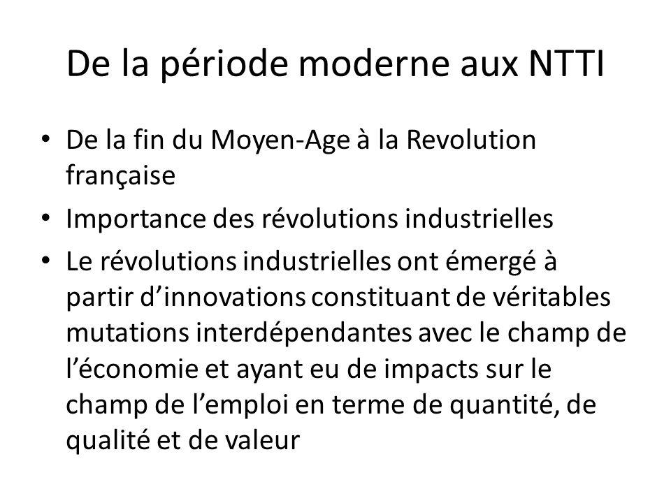 De la période moderne aux NTTI
