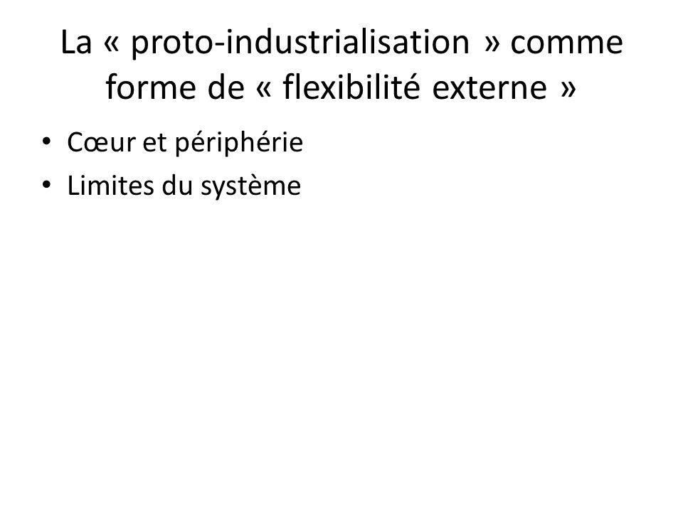 La « proto-industrialisation » comme forme de « flexibilité externe »
