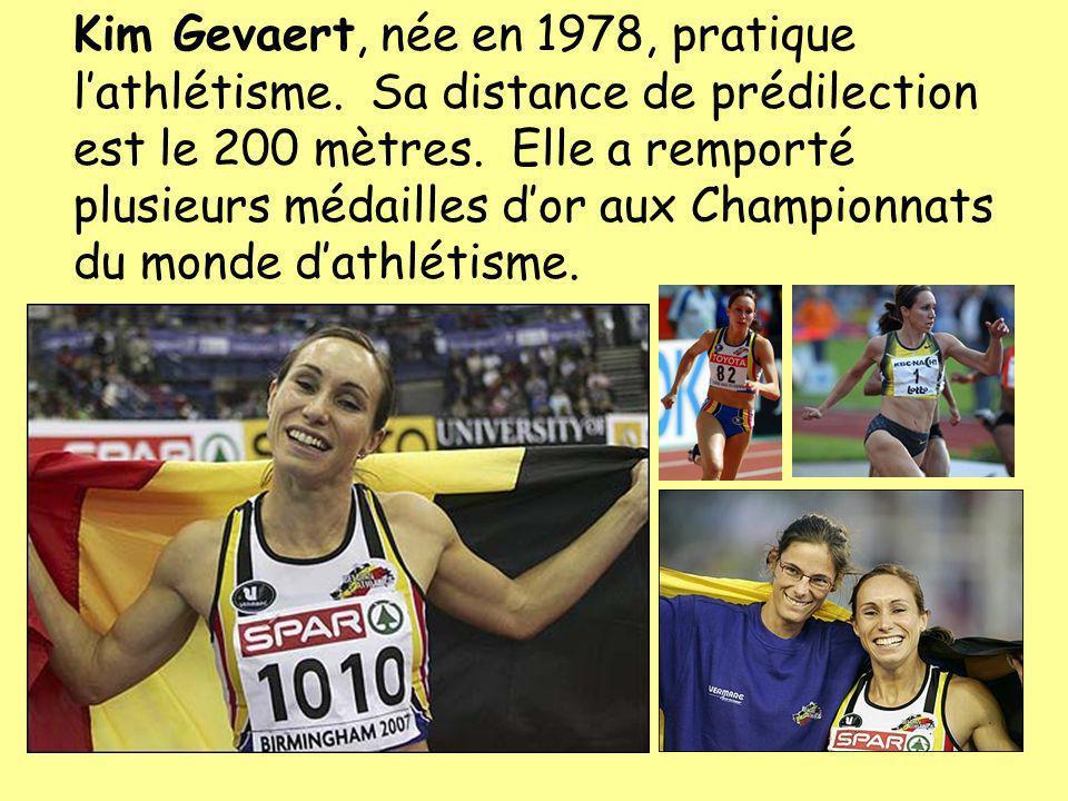 Kim Gevaert, née en 1978, pratique l'athlétisme