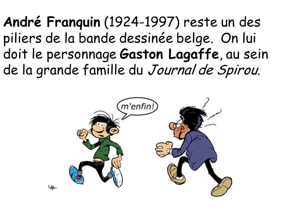 André Franquin (1924-1997) reste un des piliers de la bande dessinée belge.