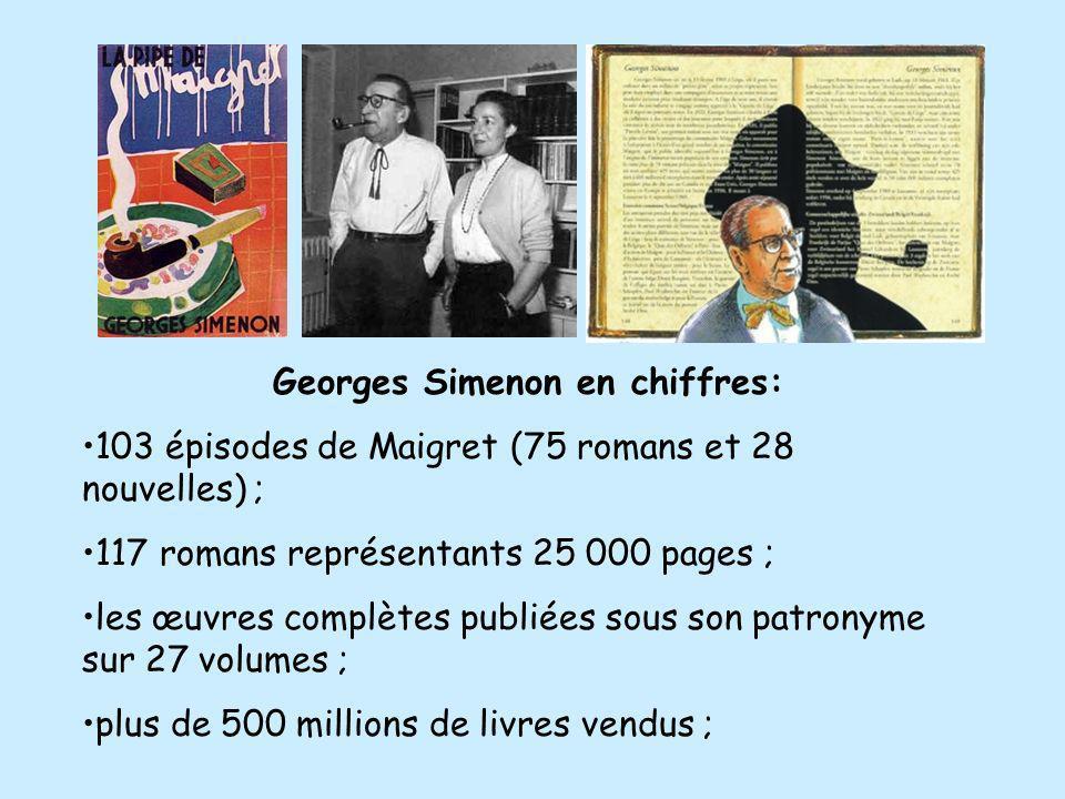 Georges Simenon en chiffres: